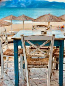 Joka-aamuinen näkymämme Kreetan joogalomalla